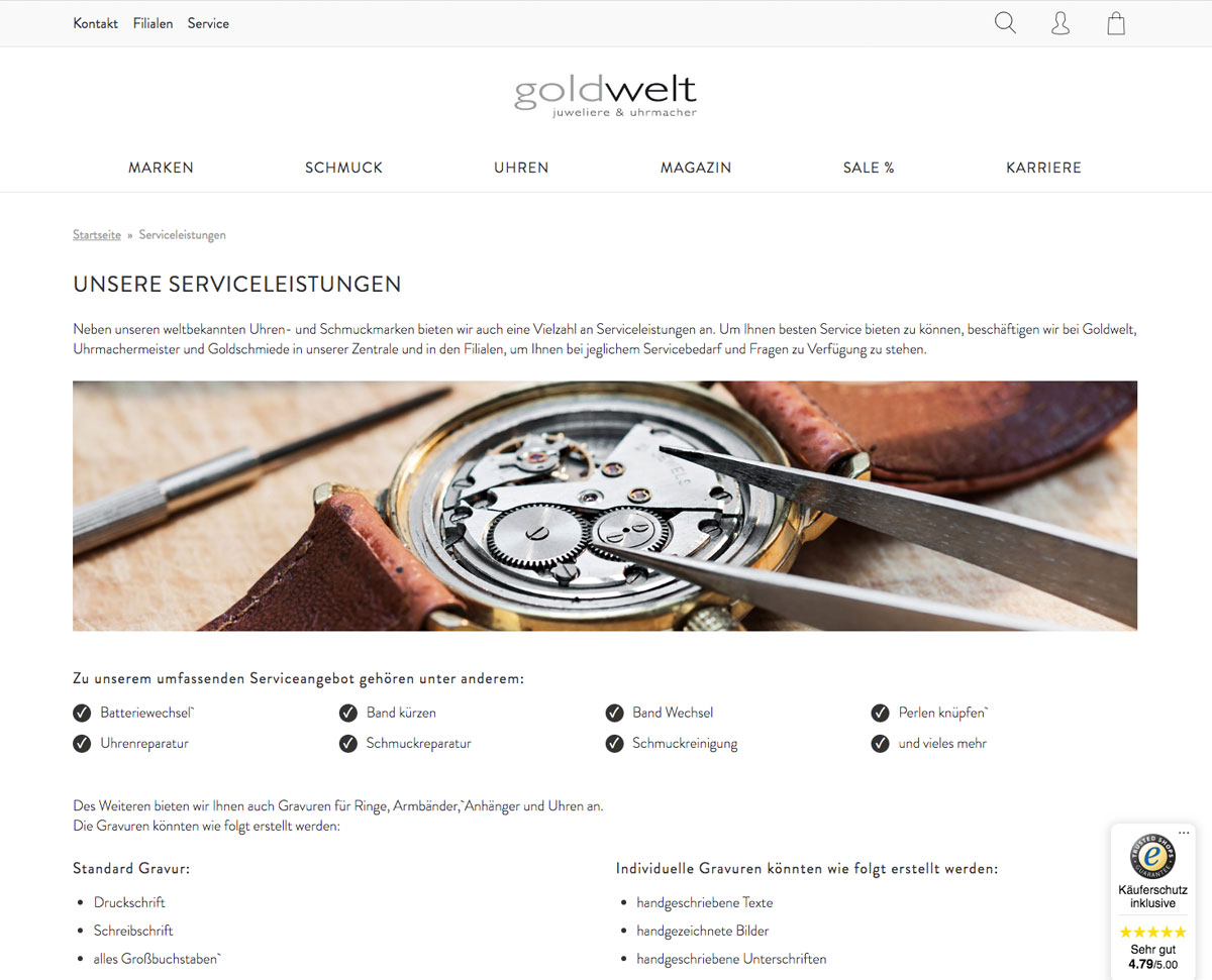 Goldwelt Service
